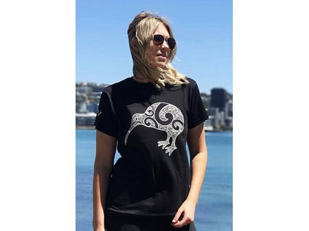 Moana Rd T Shirt Kiwi Black XS