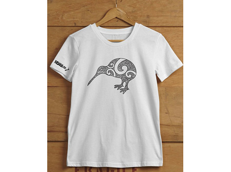 Moana Rd T Shirt Kiwi White L