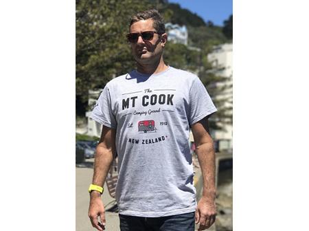 Moana Rd T Shirt Mt Cook Grey M