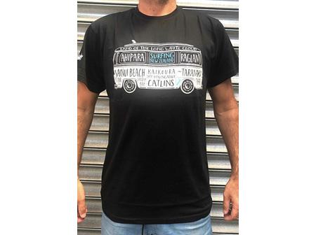Moana Rd T Shirt NZ Surfing Black L