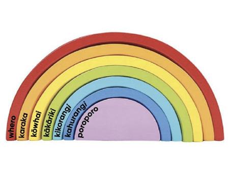 Moana Rd Te Reo Rainbow Blocks
