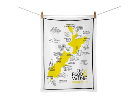 Moana Rd Tea Towel Food & Wine