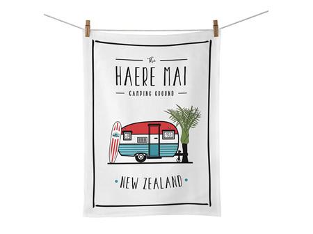 Moana Rd Tea Towel Haere Mai