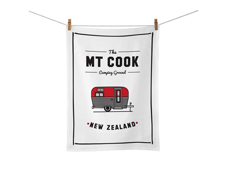 Moana Rd Tea Towel Mt Cook