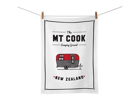Moana Rd Tea Towel Mt Cook