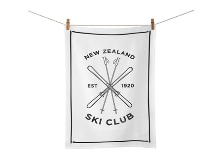 Moana Rd Tea Towel - Ski Club