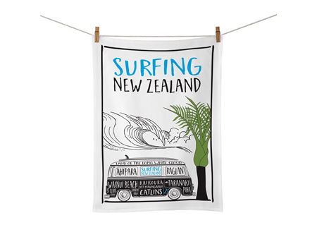 Moana Rd Tea Towel - Surfing