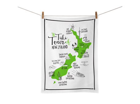Moana Rd Tea Towel Tiki Tour