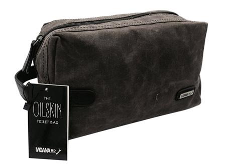 Moana Rd Toilet Bag Oilskin Brown
