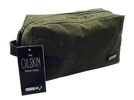Moana Rd Toilet Bag Oilskin Olive