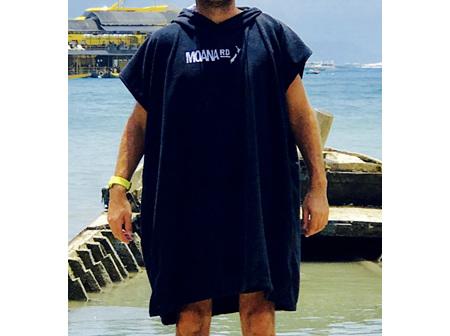 Moana Rd Towel Hoodie Adults Black