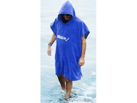 Moana Rd Towel Hoodie Kids Blue