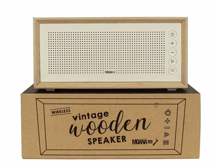 Moana Rd Vintage Wireless Scandi Wooden Speaker