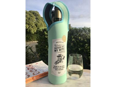 Moana Rd Wine Cooler & Carrier Hands Off My Wine Teal Neoprene  - Teal