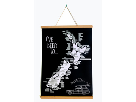 Moana Road A2 NZ Road Trip Scratch Map with Poster Holder