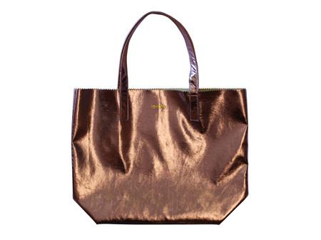 Moana Road Bag Ponsonby Metal Tote Bronze