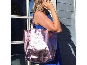 Moana Road Bag Ponsonby Metal Tote Pink