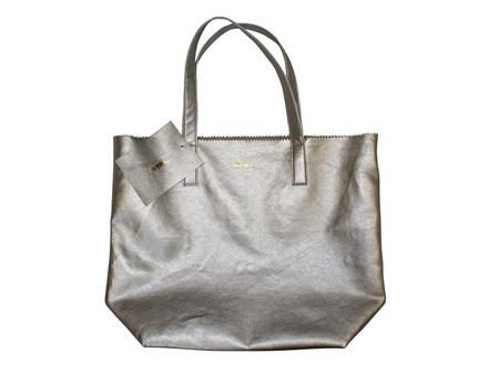 Moana Road Bag Ponsonby Metal Tote Silver
