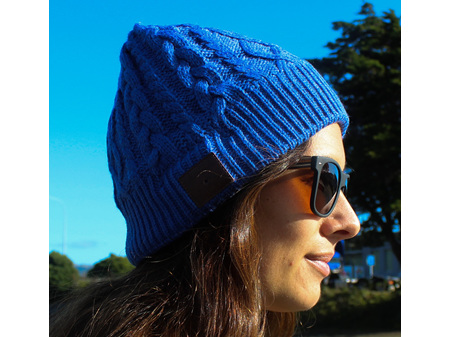 Moana Road Beanie with Built in Wireless Headphones Blue