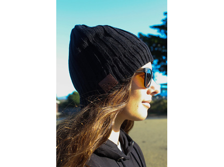 Moana Road Beanie with Built in Wireless Headphones Black