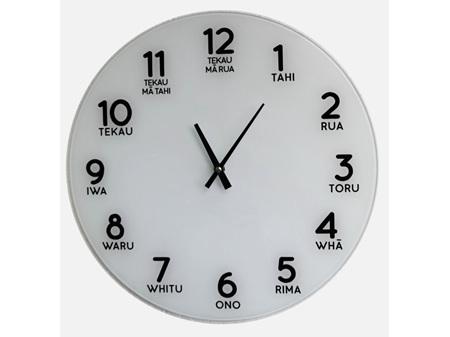 Moana Road Clock Glass - Te Reo Numbers