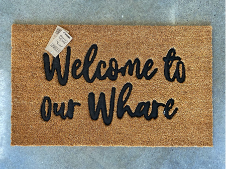 Moana Road Doormat Welcome to Our Whare