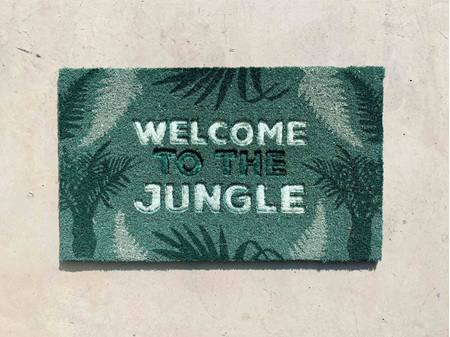 Moana Road Doormat Welcome to the Jungle