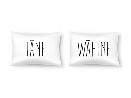 Moana Road Double Pillowcases Tane Wahine