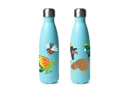 Moana Road Drink Bottle Kids Kiwi Birds 500ml