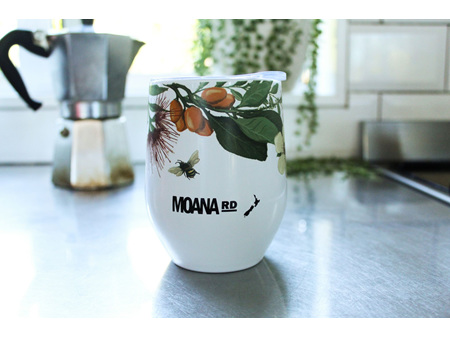 Moana Road eMug Native Flora White 350ml