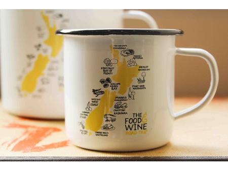 Moana Road Enamel Mug Food and Wine  Small