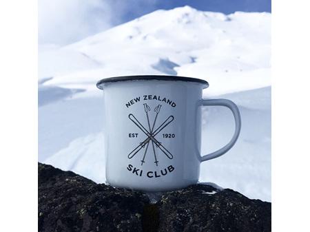 Moana Road Enamel Mug NZ Ski Club