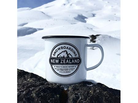 Moana Road Enamel Mug Snowboarding New Zealand  Large