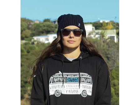 Moana Road NZ Surfing Hoodie Black L