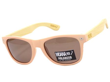Moana Road Sunglasses + Free Case ! , 50/50 Pink Frames Brown Lens