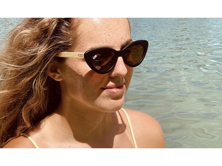Moana Road Sunglasses + Free Case ! , Bette Davis Black