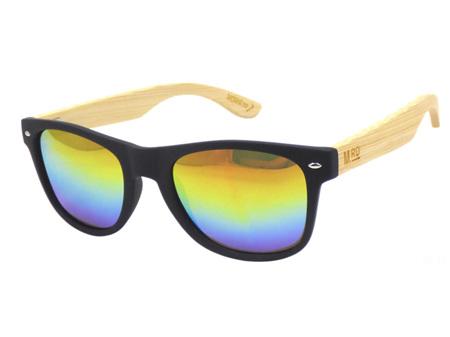 Moana Road Sunglasses + Free Case ! , Black Rainbow Reflective Lens