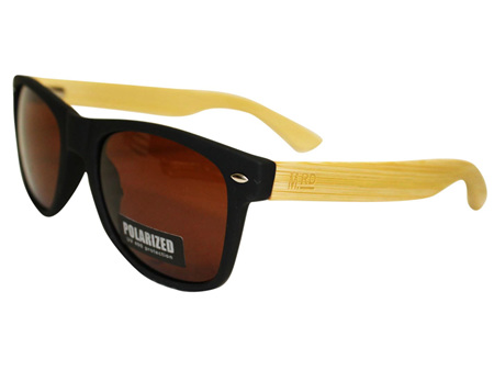 Moana Road Sunglasses + Free Case ! , Black with Brown Lens