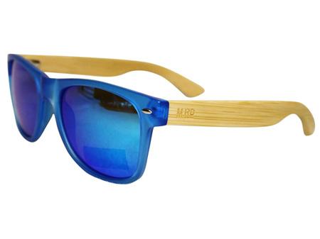 Moana Road Sunglasses + Free Case ! , Blue with Reflective Lens