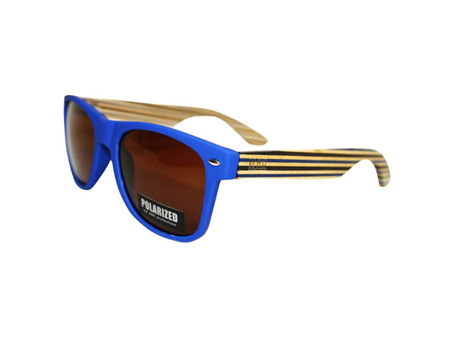 Moana Road Sunglasses + Free Case ! , Blue with Striped Arms