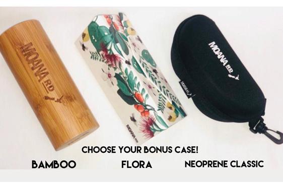 Moana Road Sunglasses + Free Case ! , Bottle Opener Yellow Red Lens