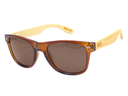 Moana Road Sunglasses + Free Case ! , Brown with Wood Arms