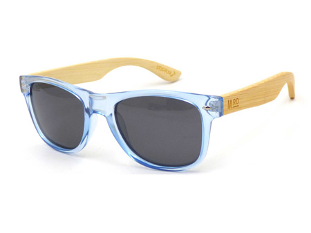 Moana Road Sunglasses + Free Case ! , Ice Blue with Wood Arms