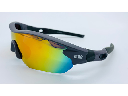 Moana Road Sunglasses + Free Case ! , Sporties Grey with Reflective Lens