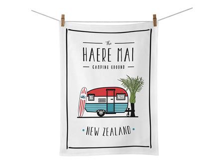 Moana Road Tea Towel Haere Mai
