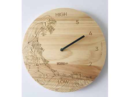 Moana Road Tide Clock Wave