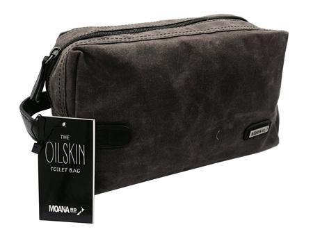 Moana Road Toilet Bag Oilskin Brown
