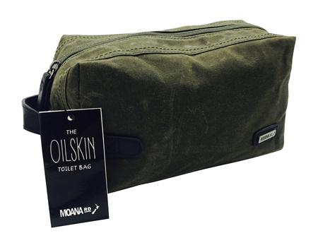 Moana Road Toilet Bag Oilskin Olive