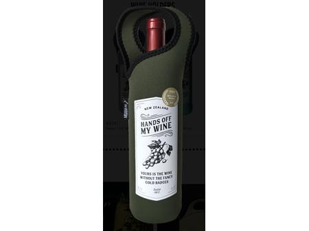 Moana Road Wine Cooler & Carrier Hands Off My Wine Neoprene Green