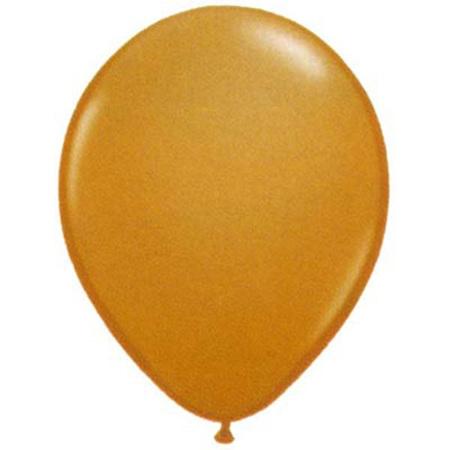 Mocha brown latex balloon x 10